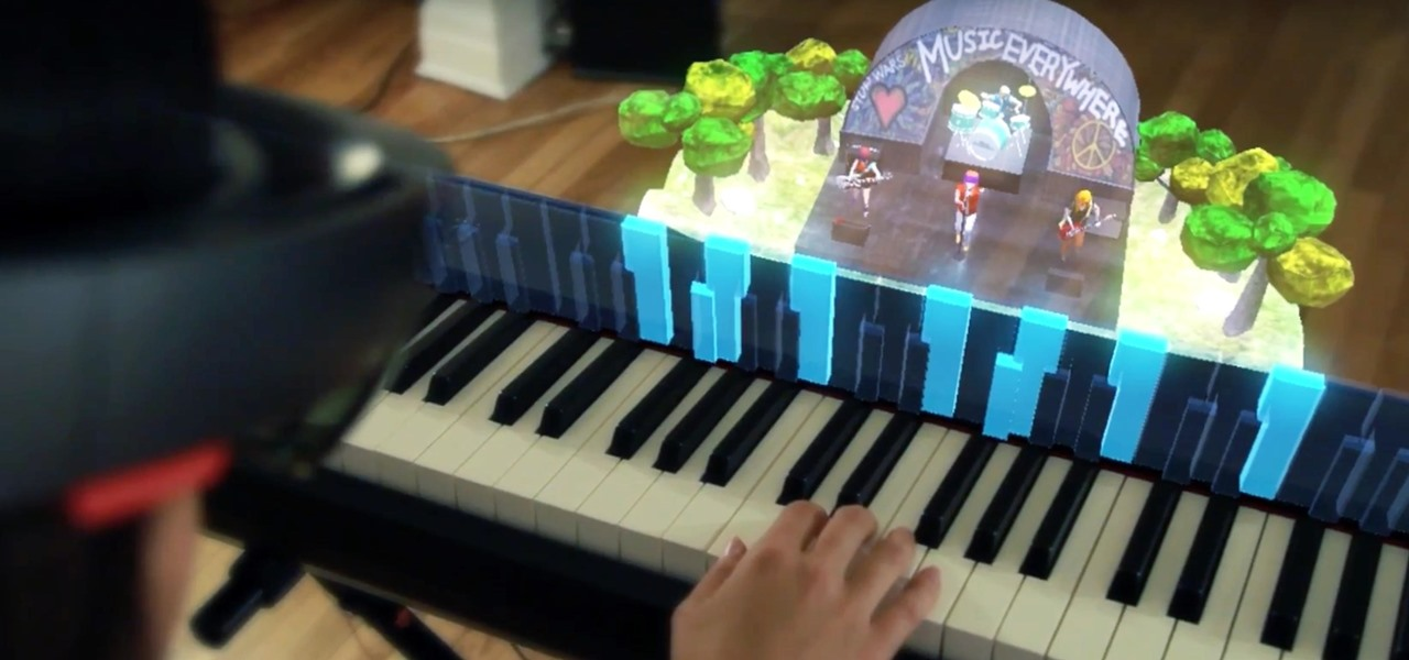 Proof of Concept: Music Everywhere Uses HoloLens to Help Piano Students with Improvisation