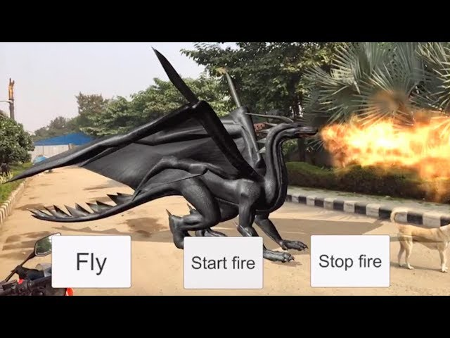 ARKit Unity tutorial - Flying Dragon Part - 1 - Swiss Society of